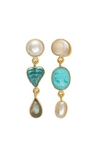 Three Charm Drop Earrings