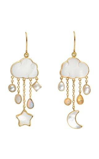 Cloud And Rain Chain Drop Earrings