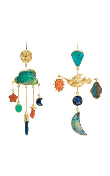 Lion And Bird Drop Earrings