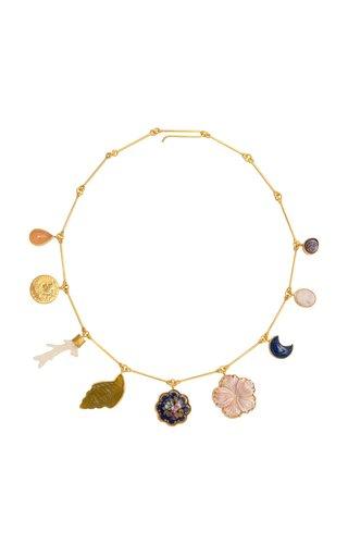 Nine Wire Charm Necklace