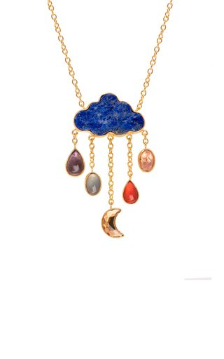 Cloud And Rain Chain Drop Necklace