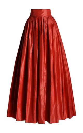 Pleated Silk Ball Skirt