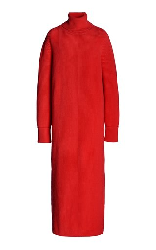 Ribbed Knitted Cashmere Dress