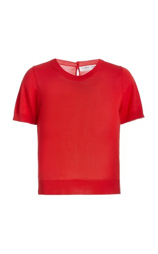 Knitted Silk-Wool Top
