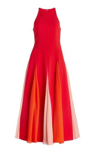 Godet Crepe Dress