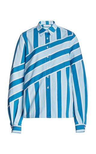 Printed Collared Cotton Shirt