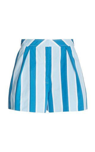 Printed Wide-Leg Cotton Shorts
