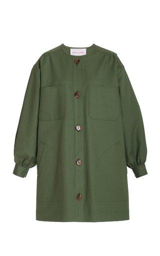 Relaxed Fit Cotton-Blend Shirt Dress