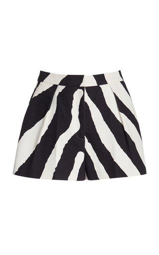 Printed High-Waisted Shorts