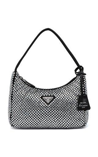 Mini Crystal-Embellished Satin Bag