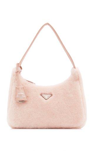 Shearling Top Handle Bag