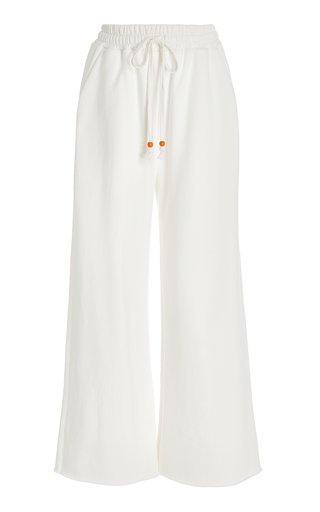 French Terry Cropped Wide-Leg Sweatpants
