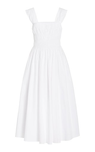 Ida Smocked Cotton Midi Dress