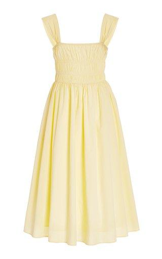 Ida Smocked Cotton Midi Dress