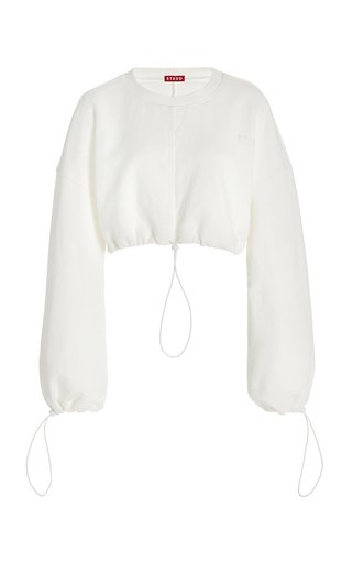 Bungee Cropped Frech Terry Sweatshirt