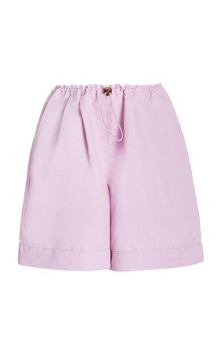 Coconut Drawstring-Detailed Nylon Shorts