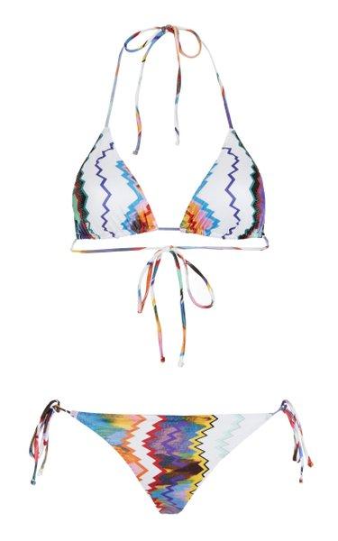 Zig-Zag Printed Bikini