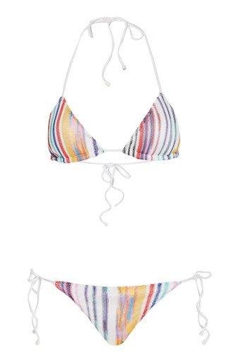 Striped Knit Bikini