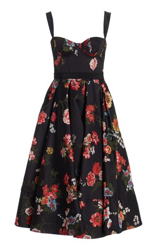 Tessa Printed Satin Midi Dress