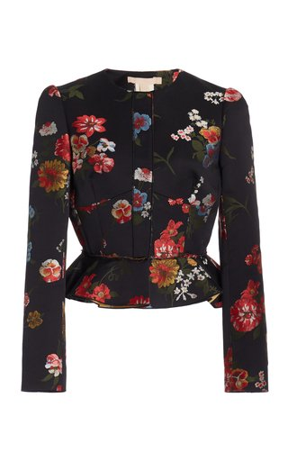 Talia Floral Print Cotton-Blend Jacket