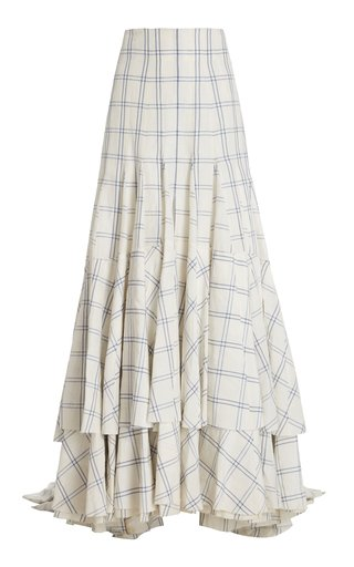 Teodora Printed Linen-Silk Skirt