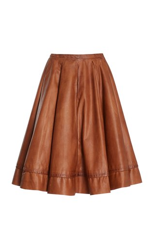 Talitha Faux Leather Midi Skirt