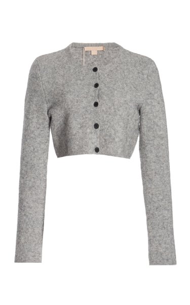 Tisca Cropped Wool-Blend Cardigan