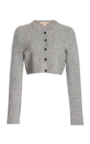 Tisca Cropped Wool-Blend Cardigan