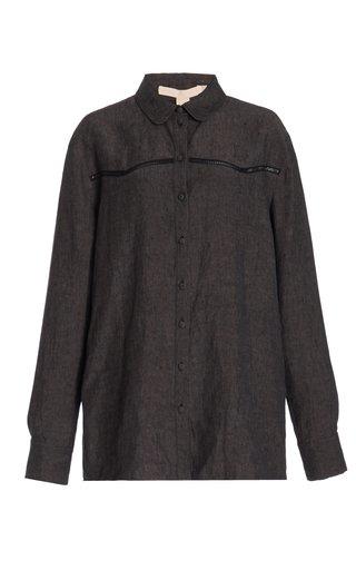 Tersia Panelled Linen Shirt