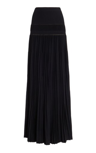 In Tosca Pleated Jersey Maxi Skirt