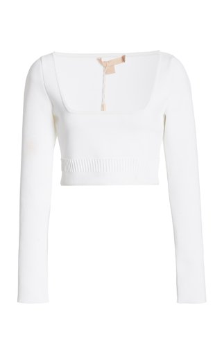 Tomiko Jersey Cropped Sweater