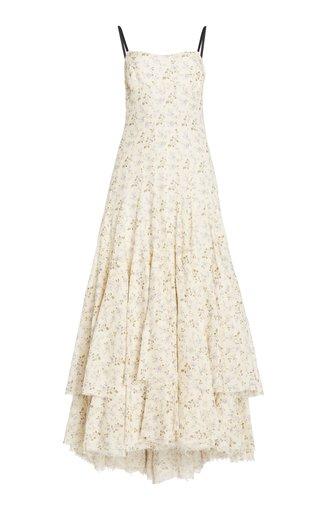 Terrie Printed Linen-Cotton Maxi Dress