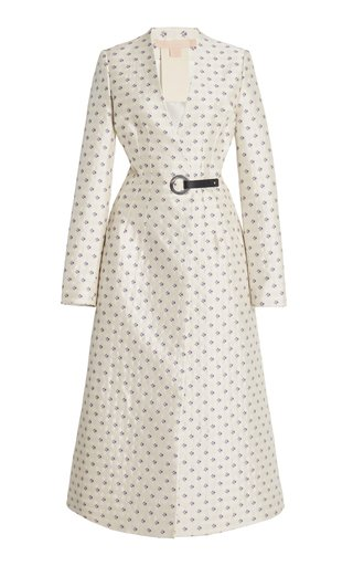 Tiziana Printed Satin Trench Coat