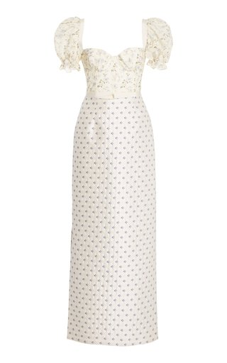 Trquinia Printed Linen-Cotton Dress