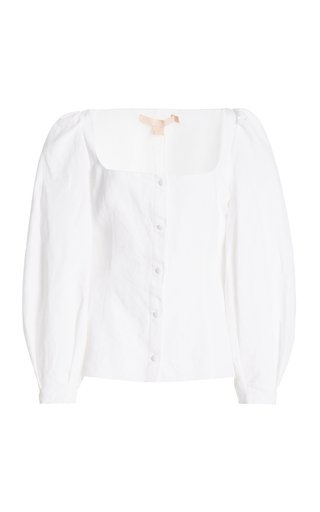 Thelma Cotton-Linen Blouse