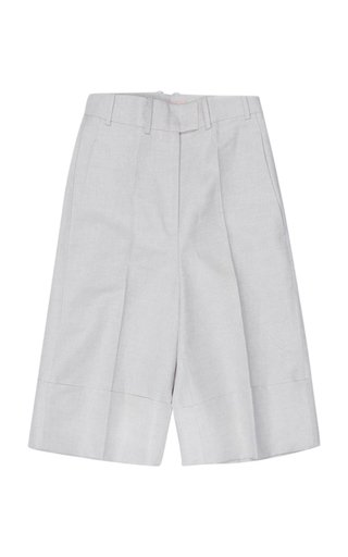 Tam Knee-Length Linen-Cotton Shorts