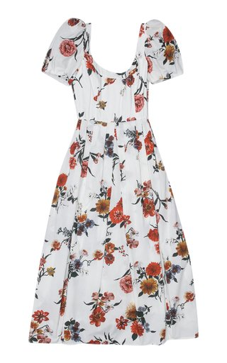 T-Salvina Printed Cotton Cocktail Dress