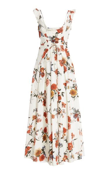 Tamiko Floral-Printed Cotton Cocktail Dress