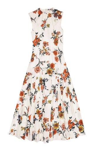 Teena Printed Cotton Midi Dress