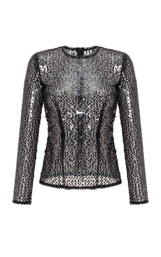 Long Sleeve Sequined Top