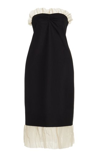 Irene Smocked Cotton Midi Dress