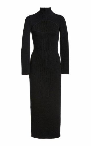 Mischa Cutout Ribbed-Knit Turtleneck Dress