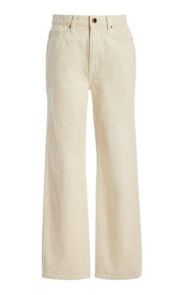 Abigail Rigid High-Rise Slim-Leg Cropped Jeans