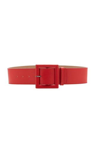 Square Buckle Leather Belt
