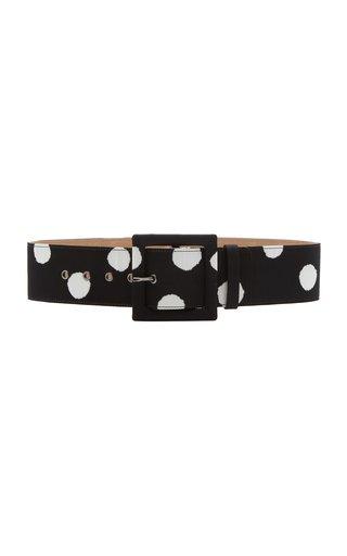 Square Buckle Printed Belt