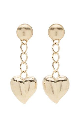 Mini Heart Chain Drop Earrings