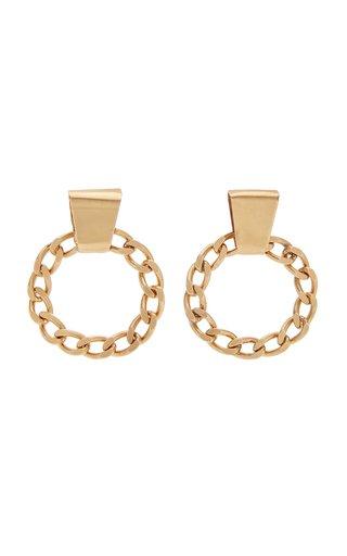 Chain Hoop Stud Earrings