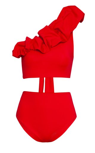 Merly Ruffled One-Shoulder Bikini