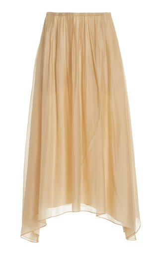 Gathered Pleated Jersey Skirt