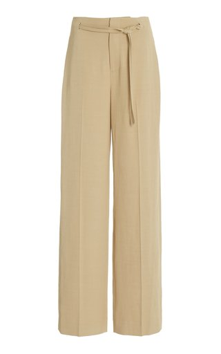 High Waisted Belted Cady Pants